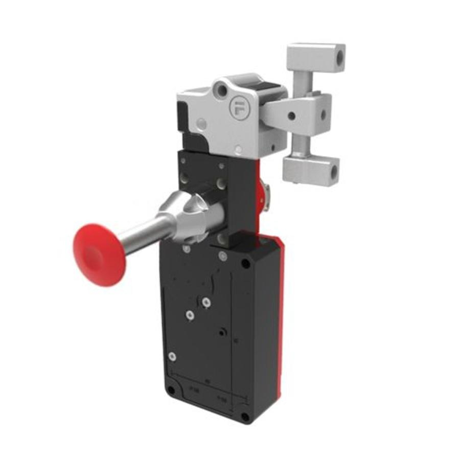 Actuator operated solenoid safety interlock switch with internal release