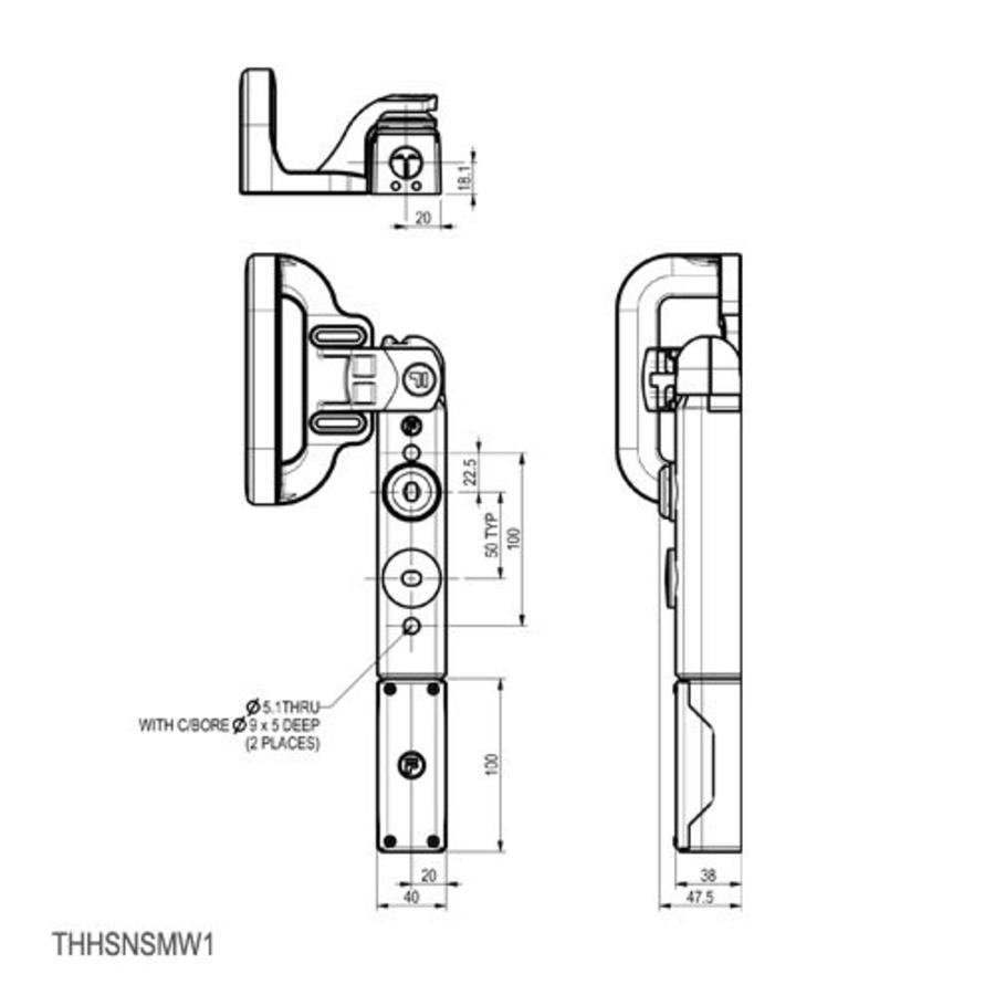 Sicherheitsschalter mit Griffbetätiger und persönlichen Sicherheitsschlüssel
