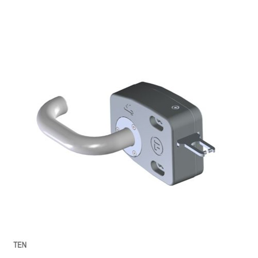 Door handle operated safety interlock switch with personal safety key