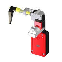 Handle operated solenoid safety interlock switch with personal safety key