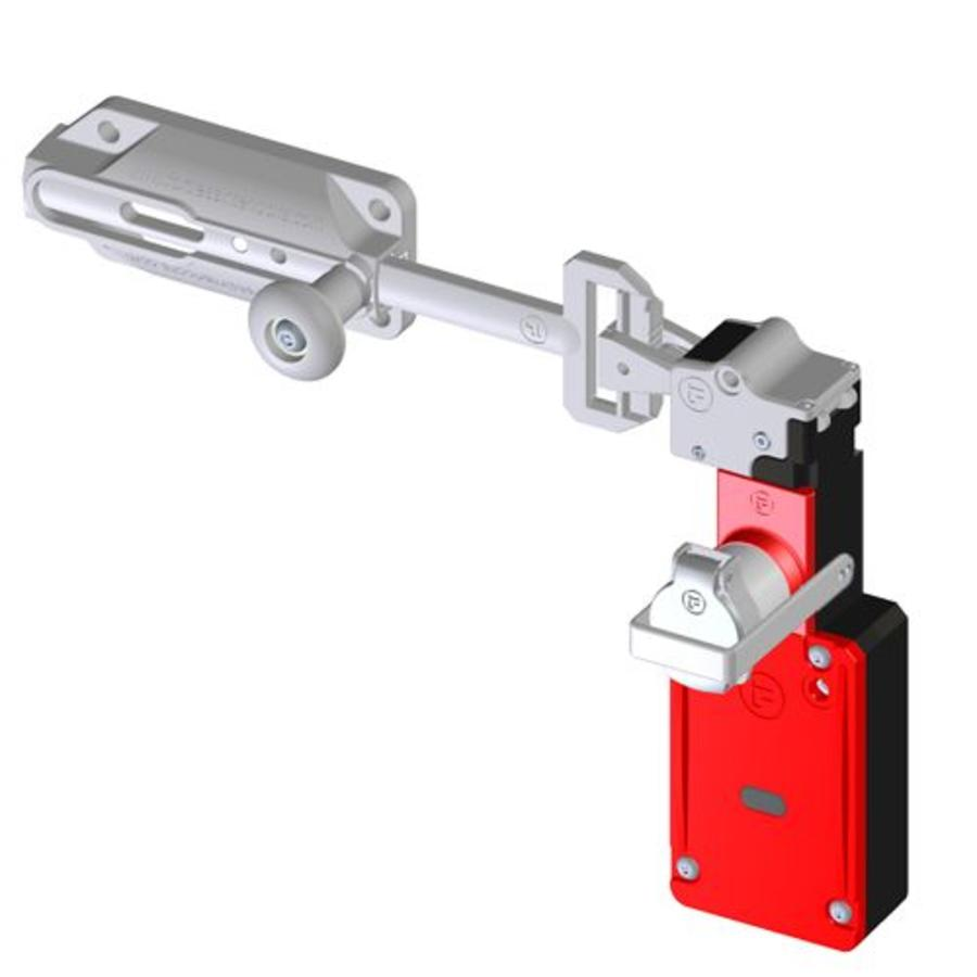 Slidebar operated solenoid safety interlock switch with personal safety key