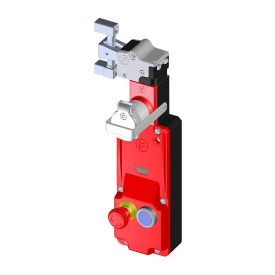 Actuator operated solenoid safety interlock switch c/w push buttons and personal safety key