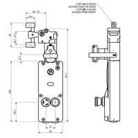 Sicherheitszuhaltung mit getrenntem Betätiger, Drucktastern und persönlichen Sicherheitsschlüssel