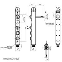 Vergrendelbare veiligheidsschakelaar met vaste tong, noodontgrendeling en drukknoppen