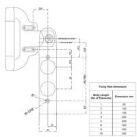 Vergrendelbare veiligheidsschakelaar met handvatbediening, noodontgrendeling en drukknoppen