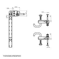 Vergrendelbare veiligheidsschakelaar met deurklinkbediening, noodontgrendeling en drukknoppen