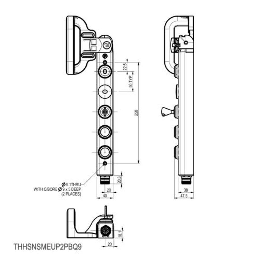 Vergrendelbare veiligheidsschakelaar met handvatbediening, persoonlijke veiligheidssleutel en drukknoppen