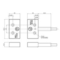 Non-contact magnetically coded safety switch NCS