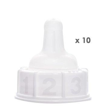 10 x Materni Sauger medium fast flow
