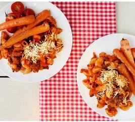 Maccheroni Bolognese met onzichtbare groenten