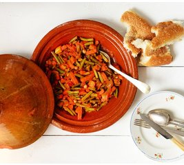 Marokkaanse tajine van groenten