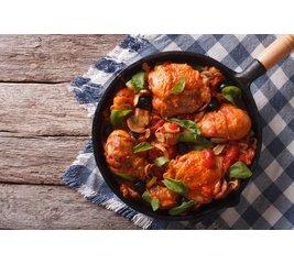 Pollo alla Toscane, Roseval aardappelen en gebakken groenten