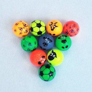 Assorti GlowGolfballen met funprint