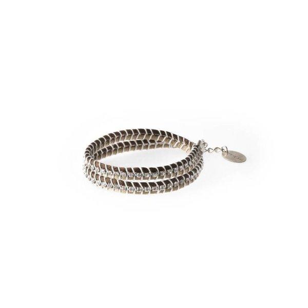 Bracelet SNAKE bicoloured BEIGE
