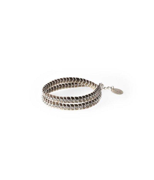MAY mOma Bracelet SNAKE bicoloured BEIGE SNK2