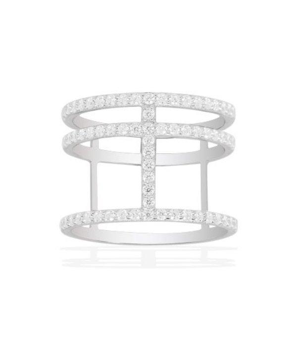APM MONACO Ring silver Neo-Classique Croisette COLLECTION ADN A14726OX