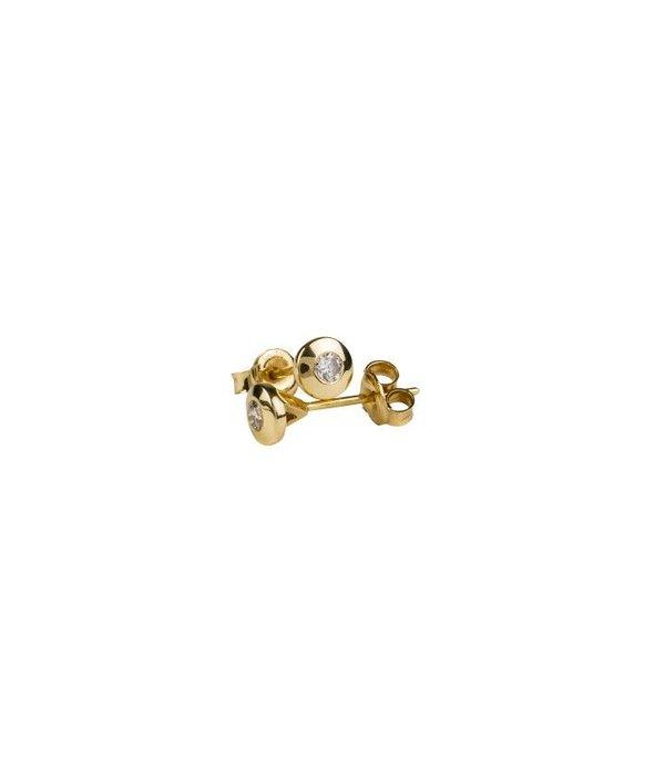 DIAMOND STUD EARRINGS BEZELSET GJ / E0342Y024