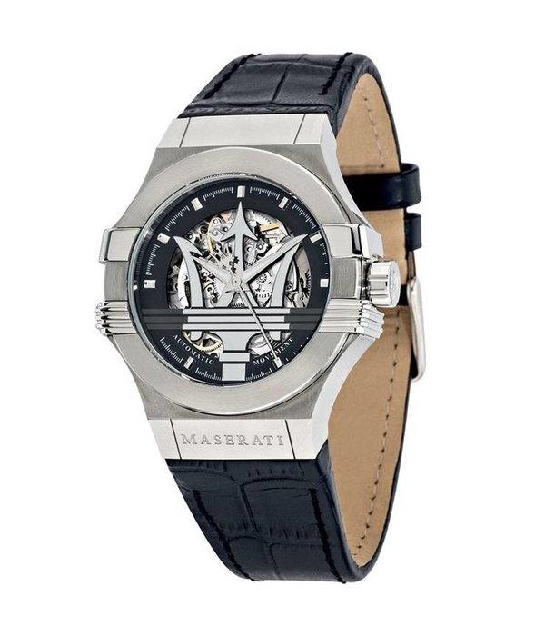 MASERATI  Potenza - R8821108001 - horloge - automaat - zilverkleurig - 42mm
