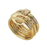 JUST CAVALLI Just Infinity Ring yellow gold PVD stainless steel SCHX06