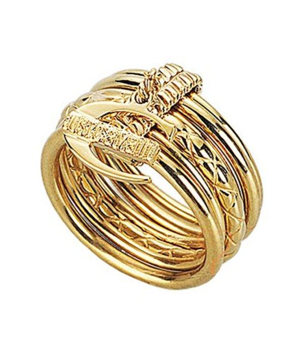 JUST CAVALLI Just Infinity Ring geel goud edelstaal pvd SCHX06