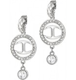 JUST CAVALLI Just Cavalli Just Neon SCABF09 earrings in white steel with crystals