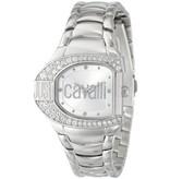 JUST CAVALLI Just Cavalli LOGO uurwerk R7253160615 wit edelstaal bezet met kristallen