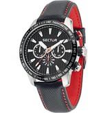 SECTOR Sector No Limits Racing horloge 850 chronograaf zwart en rood R3251575008