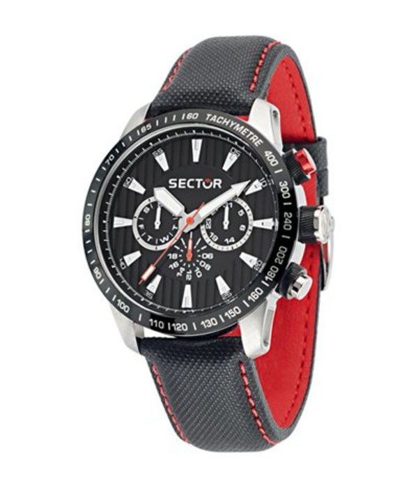 SECTOR Sector No Limits Racing 850 chronograph watch black and red R3251575008