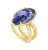 JUST CAVALLI Just Cavalli Just hipnose anneau en acier inoxydable avec pierre bleue SCADU05