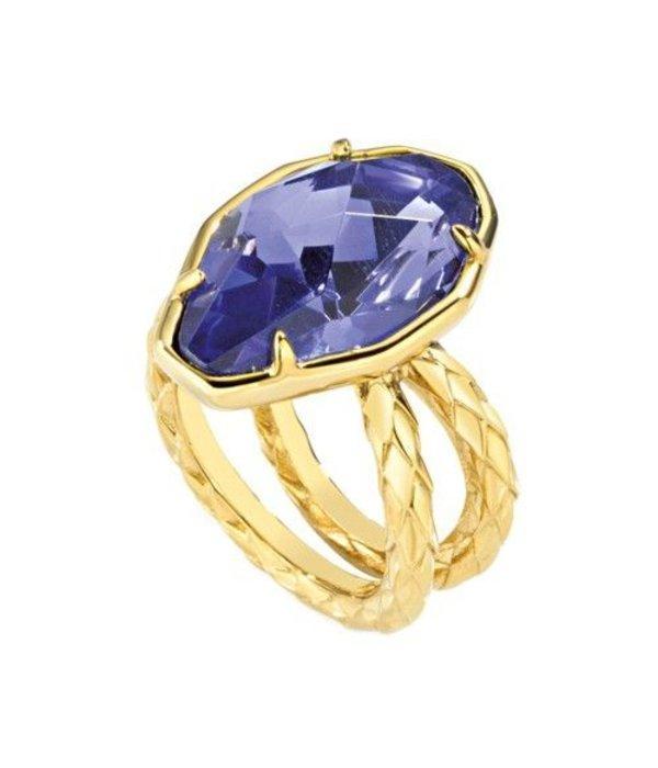 JUST CAVALLI Just Cavalli Just Hipnose stainless steel ring with blue stone SCADU05