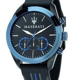 MASERATI  TRAGUARDO - R8871612006 - watch - chronograph - blue colored - 45mm