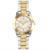 NINA RICCI watch in yellow and white mother of pearl dial with steel N045012