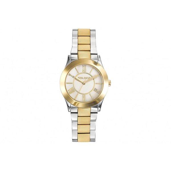 horloge in geel en wit edelstaal N045012