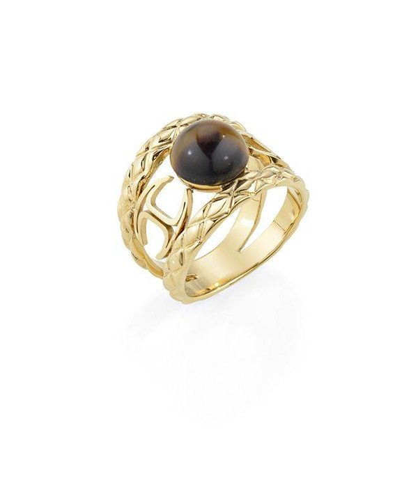 JUST CAVALLI Just Fierce SCAEP03 ring in gold-colored stainless steel with resin SCAEM10