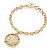 JUST CAVALLI Nur Veranstaltungs Armband aus Goldton mit Kristallen SCAEP02