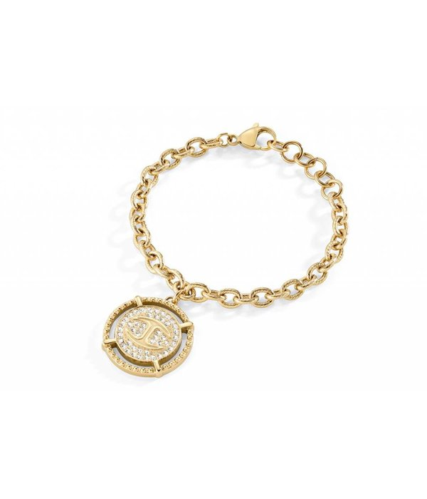JUST CAVALLI Just Banquet bracelet in gold tone with crystals SCAEP02
