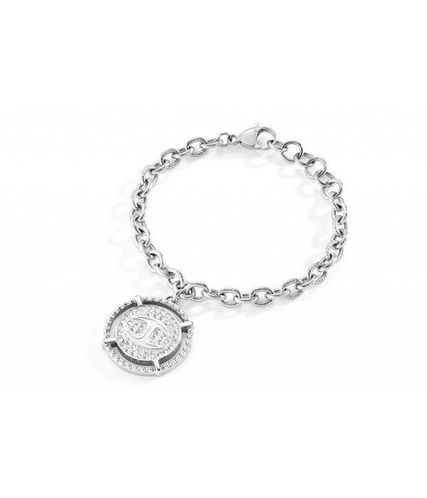 JUST CAVALLI Just Banquet bracelet in stainless steel with crystal SCAEP08