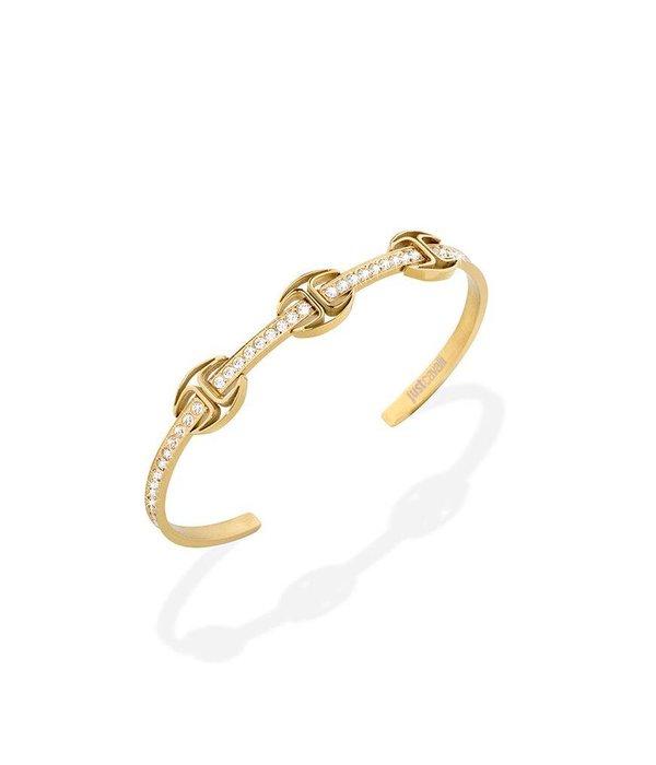 JUST CAVALLI Just Cavalli Just Banquet Bracelet geel goud pvd met kristallen SCAEP01