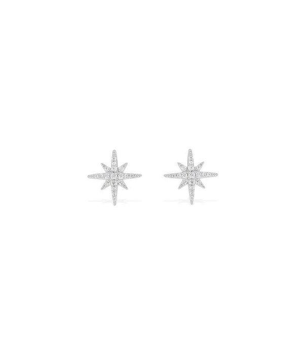 APM MONACO BOUCLES D'OREILLES ADN1 AE8419OX en forme d'étoile avec des cristaux blancs