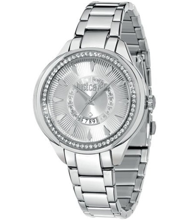 JUST CAVALLI JC01 Ladies Watch R7253571504 with day and case set with crystals