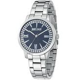 JUST CAVALLI Class R7253574505 dames horloge met donkerblauwe wijzerplaat