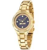 JUST CAVALLI R7253215502 Just Indie dames horloge met blauwe wijzerplaat