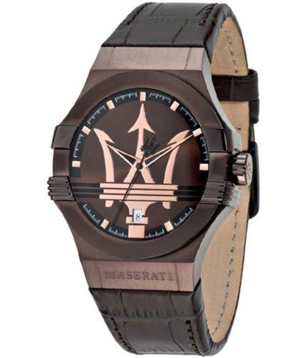 MASERATI  Potenza MANN-UHR R8851108011 METBRUINE Lederband und DIAL