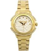JUST CAVALLI Nur Decor R7253216502 Damenuhr aus Edelstahl mit goldfarbenen Kristallen