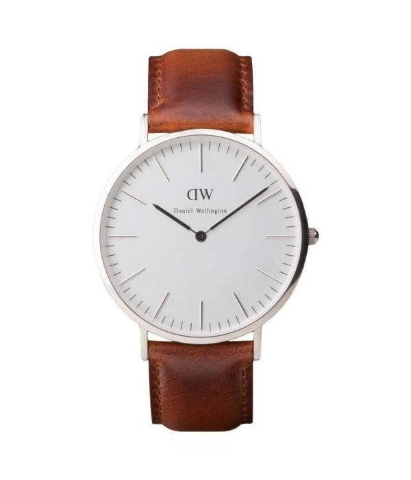 DANIEL WELLINGTON Classic ST MAWES - DW00100021 - watch - leather - silver - 40mm
