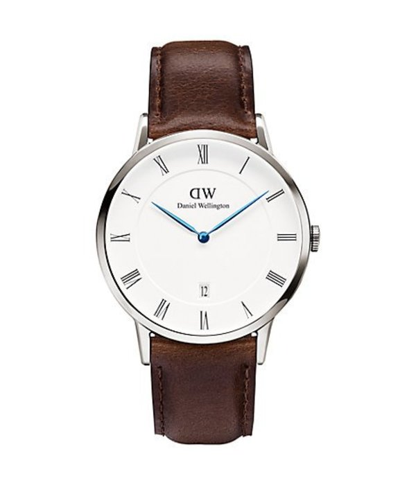 DANIEL WELLINGTON BRAVE BRISTOL DW00100090 with day WATCH FOR LEATHER STRAP
