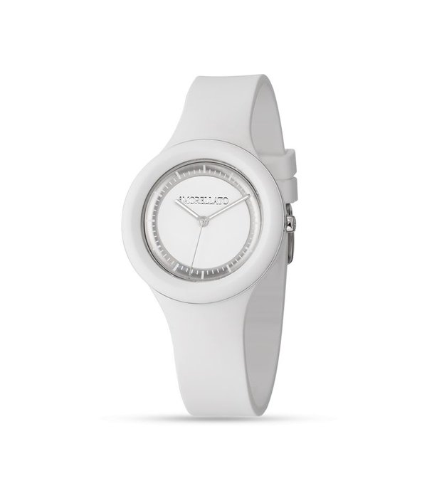 MORELLATO Colours R0151114574 men's watch or women's watch in white color with silver