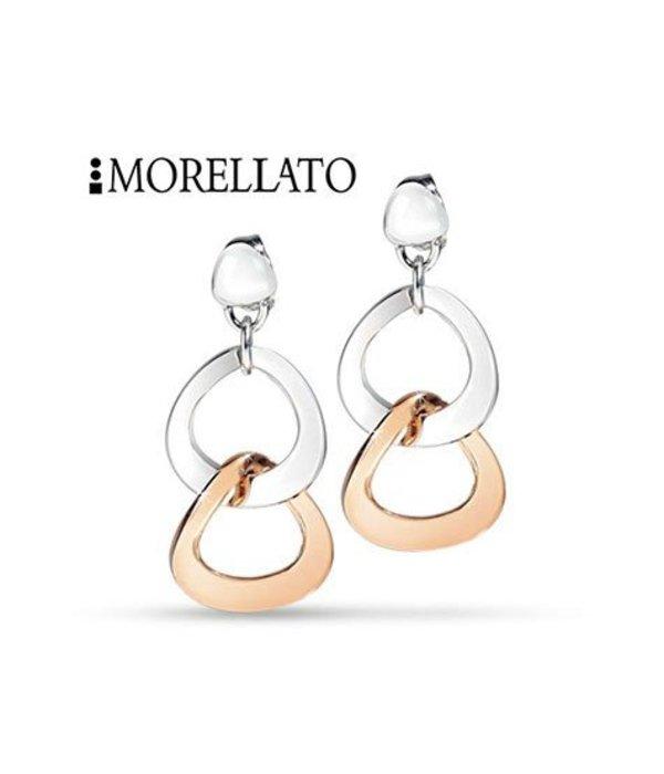 MORELLATO SENZA OORHANGER SKT05 IN rosé en zilverkleurig edelstaal