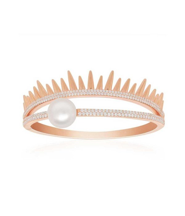 APM MONACO DARK SUN BRACELET RB3227XPL ROSE COLORED SILVER WITH PEARL AND CRYSTAL