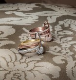 APM MONACO BabyXL R17064OX RING rosékleurig silver and crystal